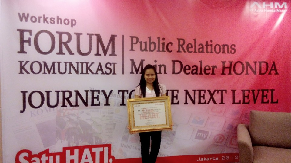 Public Relations Terbaik Main Dealer Honda 2014