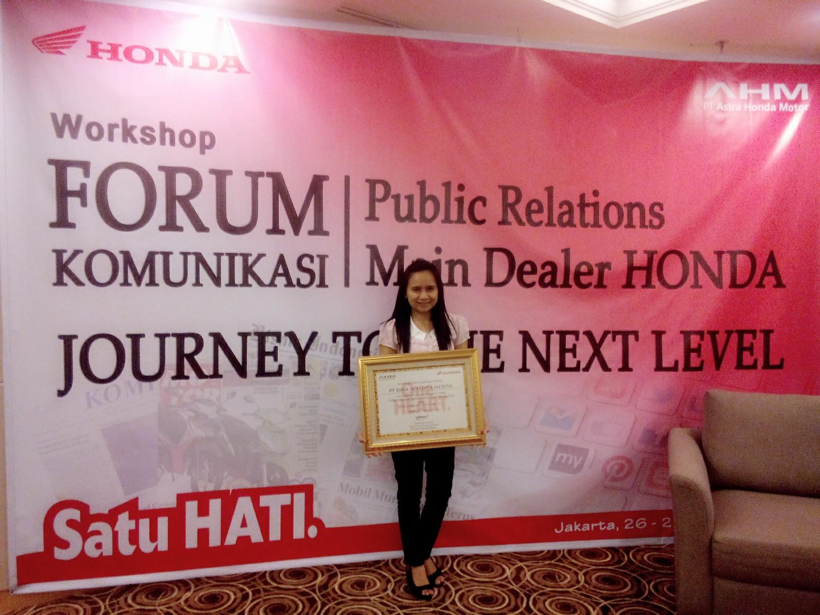 Public Relations Terbaik Main Dealer Honda 2014