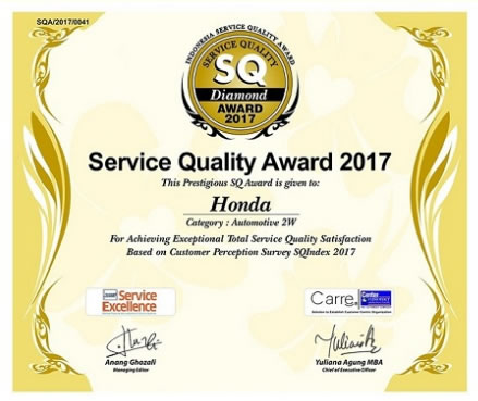 AHM Sertifikat SQ Award